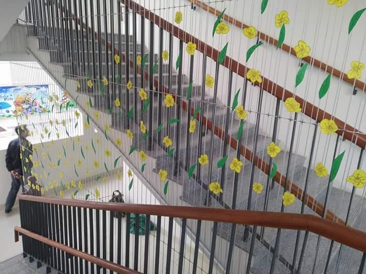 lưới cầu thang Hòa Phát